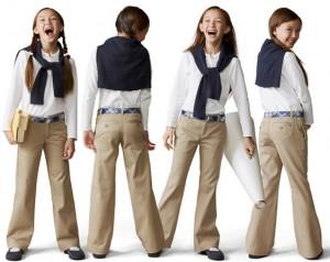 Джинсовая школьная форма