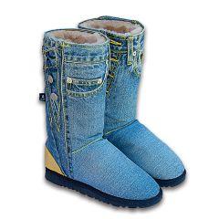 джинсовые угги
