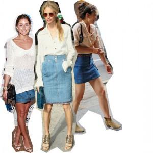 Джинсовая юбка с чем носить