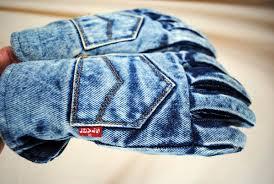 джинсовые перчатки
