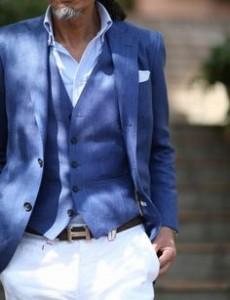 Джинсовый свадебный костюм